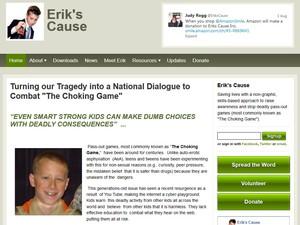 Pais de Erik criaram fundação para divulgar os riscos do choking game (Foto: Reprodução)