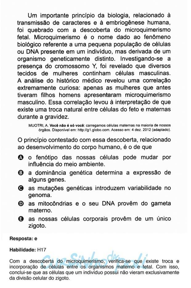 Enem 2015 - Cursinho da Poli comenta questão que citou artigo de colunista do G1. (Foto: Reprodução/Cursinho da Poli)