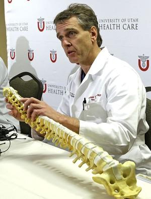Andrew Dailey médico coletiva estado Lais Souza (Foto: AP)