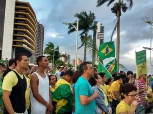 Manifestação 16 de agosto em Campina Grande (Foto: Rammm Monte/G1)