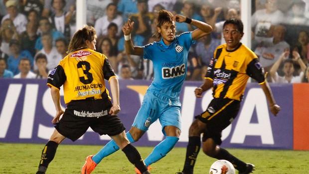 Neymar Santos x The Strongest (Foto: Gustavo Tilio / Globoesporte.com)