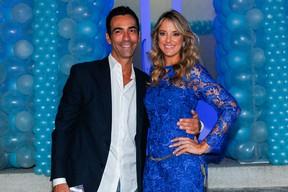 César Tralli e a namorado Tici Pinheiro, na festa de 5 anos de Rafaella Justus (Foto: Manuela Scarpa/Photo Rio News)