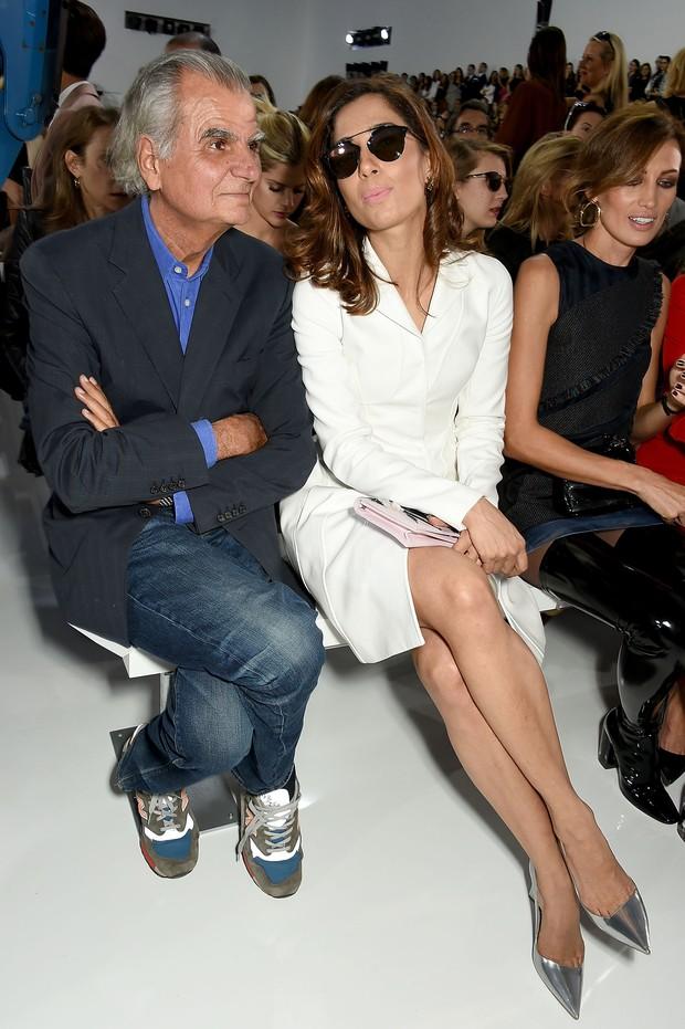 Patrick Demarchelier e Camila Pitanga na primeira da Dior em Paris (Foto: Getty Images | AFP)