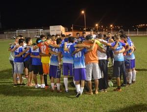 Espigão após conquistar a vaga para final do Rondoniense Sub-20 (Foto: Magda Oliveira)