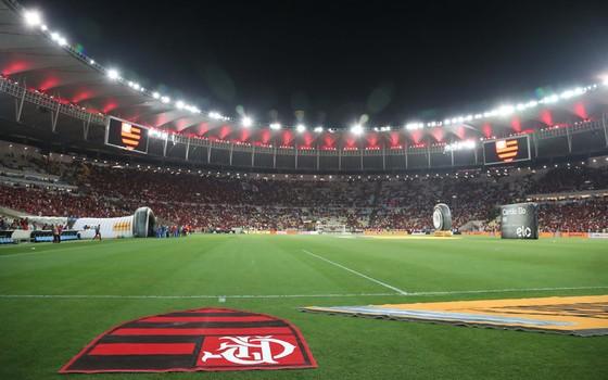 Final da Copa do Brasil. O Flamengo administrou o Maracanã na primeira partida contra o Cruzeiro na decisão (Foto: Gilvan de Souza / Flamengo)