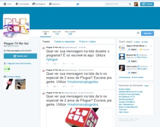 Twitter do programa Plugue (Foto: Internet)