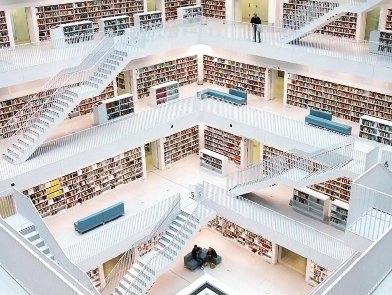 Biblioteca de Stuttgart, na Alemanha (Foto: Divulgação)