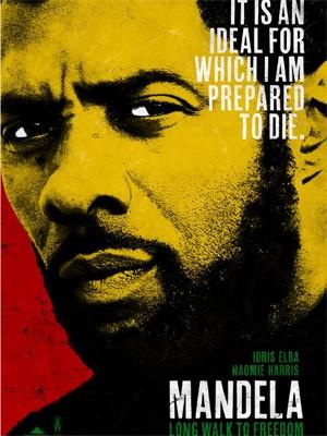 Pôster de 'Longo caminho para a liberdade', com Idris Elba (Foto: Divulgação)