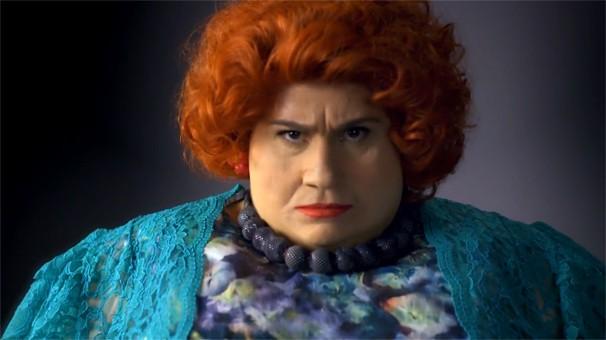 Dona Redonda é daquelas que come até explodir; veja mais no vídeo acima (Foto: Globo)