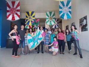 Turistas japoneses visitam Museu do Samba (Foto: Divulgação)