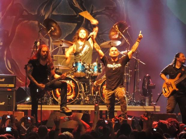 Banda Hibria, no Abril pro Rock (Foto: Katherine Coutinho / G1)