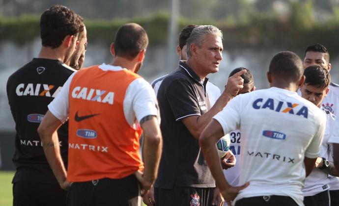 Tite jogadores Corinthians (Foto: Ricardo Taves/Ag. Corinthians)