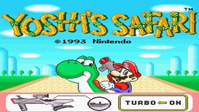 A Super Scope não foi tão popular quanto a Zapper, mas teve alguns bons jogos no Super Nintendo, como Yoshis Safari (Foto: Reprodução/YouTube)