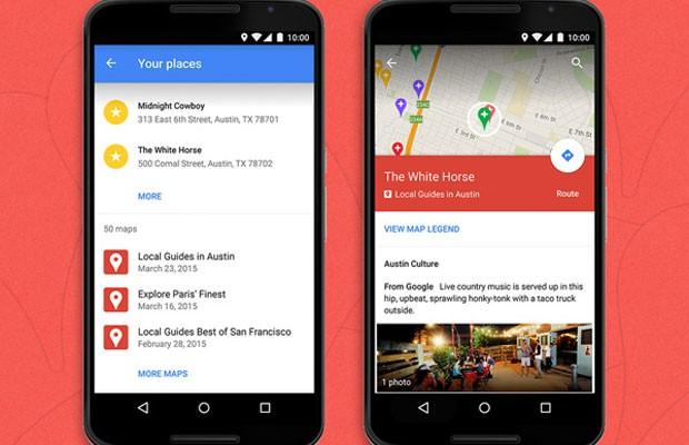 Google Maps exibe edições de mapas no aplicativo para Android. (Foto: Divulgação/Google)