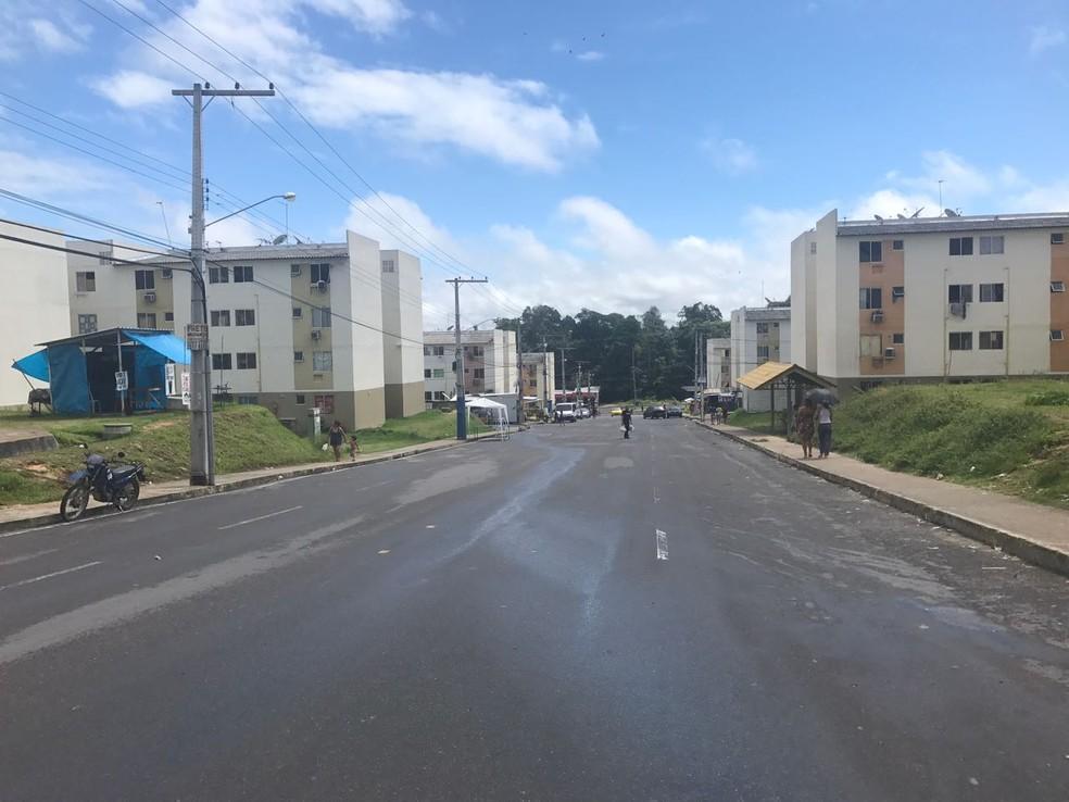 Caso ocorreu no Conjunto Viver Melhor, na Zona Norte de Manaus (Foto: Patrick Marques/G1 AM)