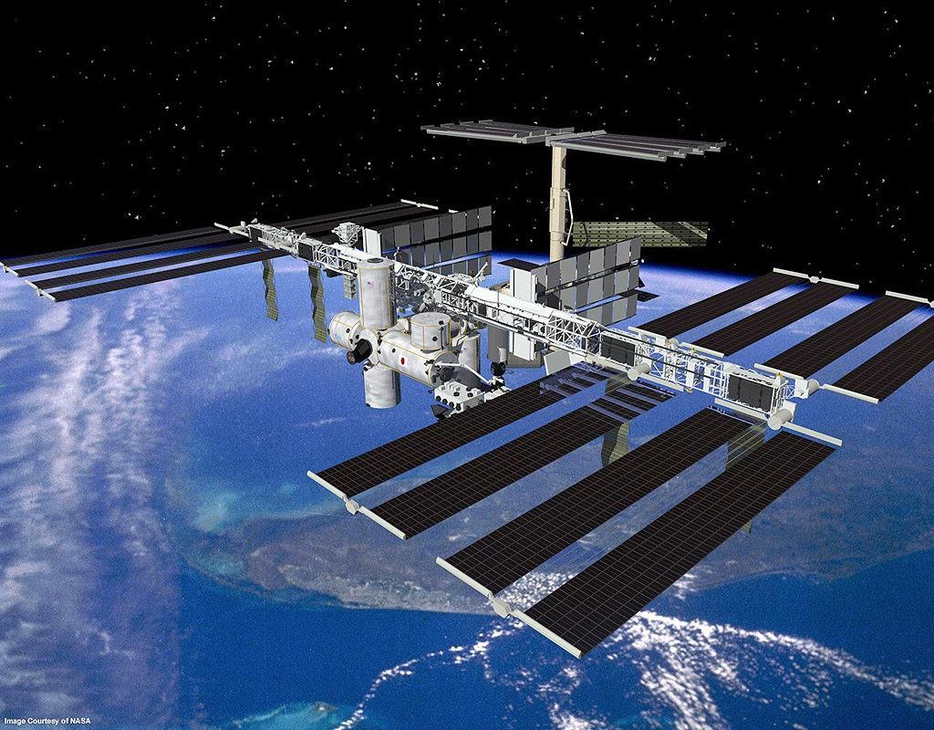 A Estação Espacial Internacional  (Foto: Nasa)