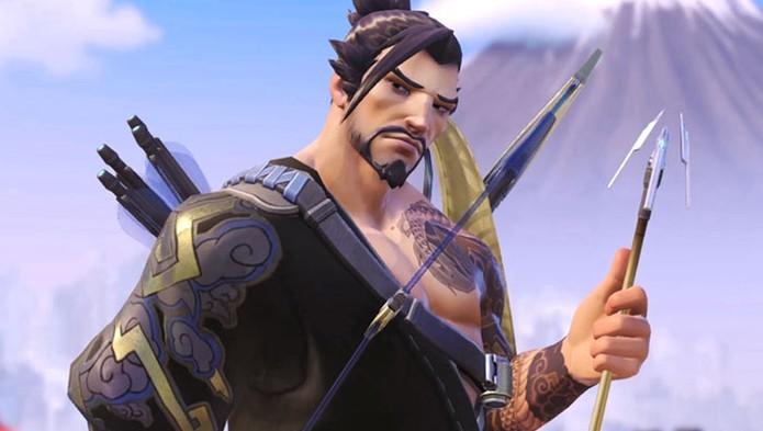 Hanzo é um samurai com arco e flecha (Foto: Divulgação/Blizzard)