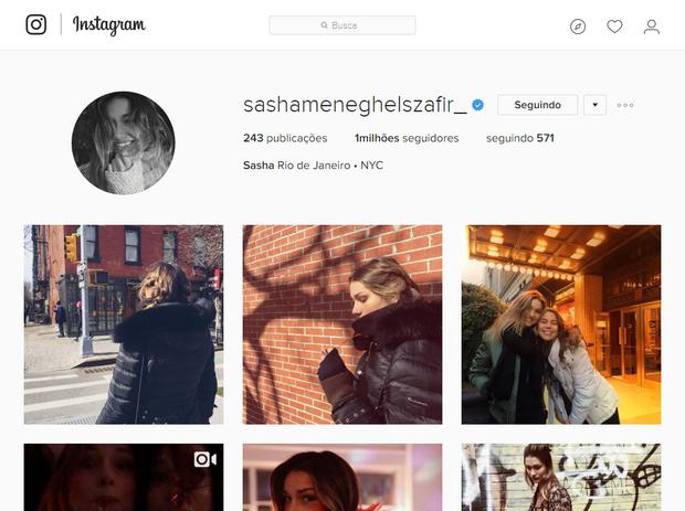 Perfil de Sasha no Instagram (Foto: Reprodução/Instagram)