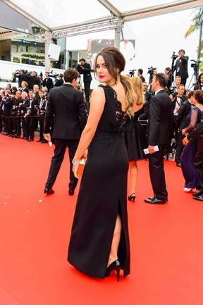 Fernanda Machado no Festival de Cannes (Foto: Divulgação Carmen Steffens)