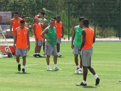 Lucas treino Fluminense (Foto: Edgard Maciel de Sá)