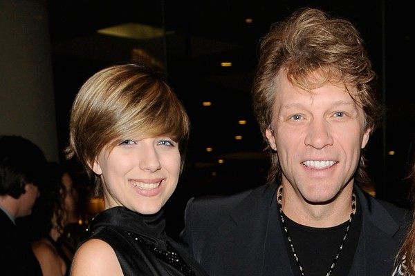Stephanie Rose Bongiovi e Jon Bon Jovi em 2010 (Foto: Getty Images)