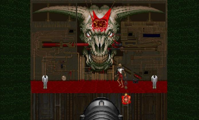 O chefe final de Doom 2 não possui nome, mas é conhecido como Icon of Sin (Foto: doom.wikia.com)