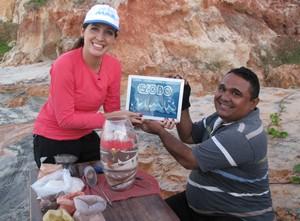 Arte com areia colorida faz sucesso no litoral (Foto: Divulgação/TV Globo)