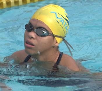 Rebeca Campos, nadadora do Acre (Foto: Reprodução/TV Acre)