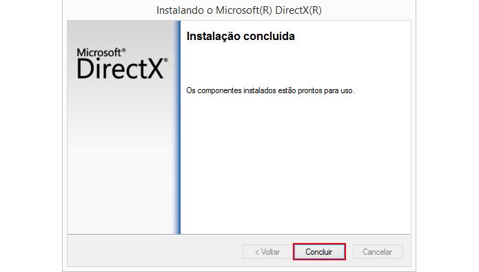 Instalação adiciona arquivos perdidos do DirectX (Foto: Reprodução/Microsoft)
