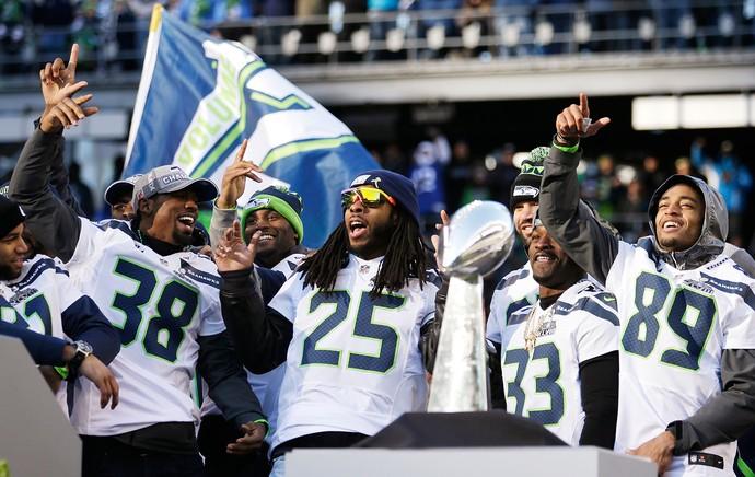 Seatle Seahawks festa SuperBowl NFL (Foto: AP)