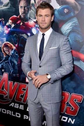 Chris Hemsworth em première em Los Angeles, nos Estados Unidos (Foto: Kevin Winter/ Getty Images/ AFP)