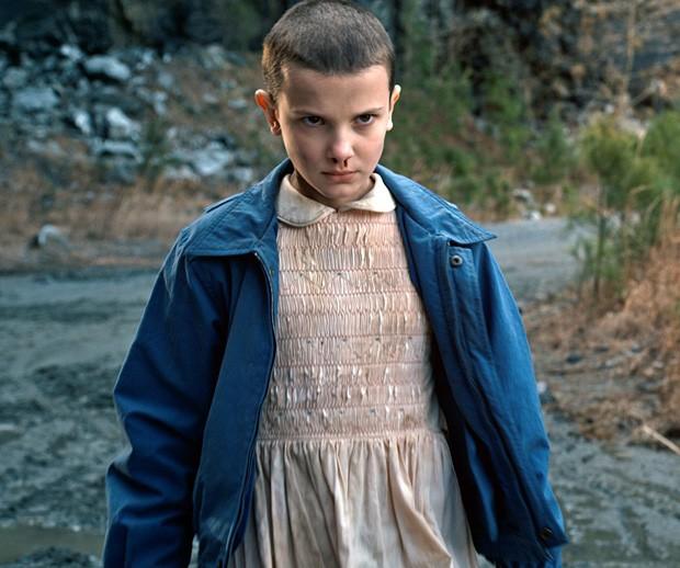 Millie Bobby Brown como Eleven em Stranger Things (Foto: Reprodução)