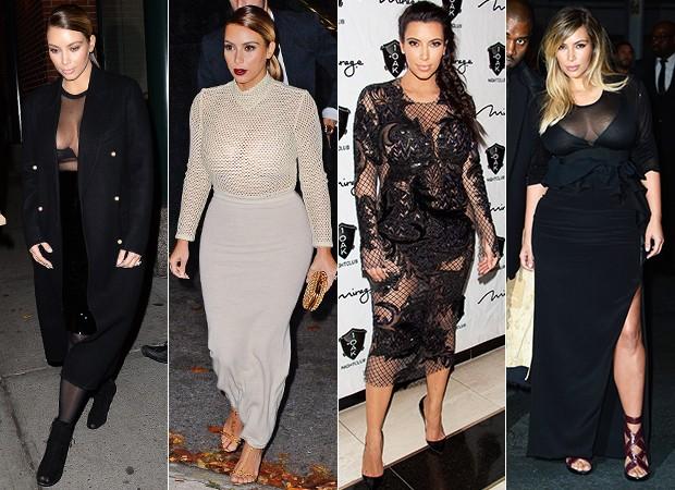 [MODA] Kim Kardashian - Transparências (Foto: AKM-GSI / AKM-GSI - Agência Getty Images)