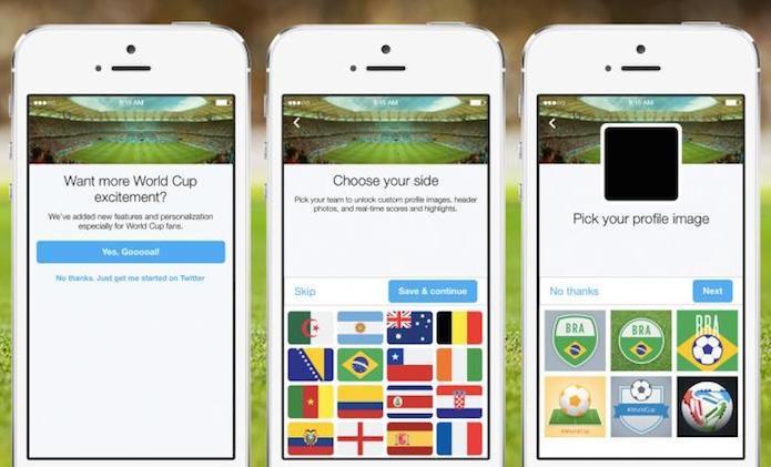 Twitter agora oferece a opção de escolher um time na inscrição (Foto: Reprodução/Blogo do Twitter)