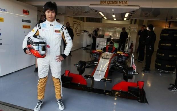 Chinês Ma Qing Hua é o primeiro da sua nacionalidade a participar de um GP da Fórmula 1  (Foto: Divulgação)