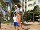 Eliana Amaral faz treino ao ar livre: 'Quero ser inspiração para mulheres'