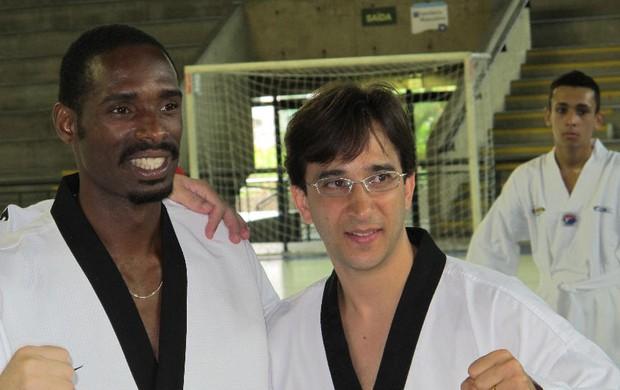 Diogo Silva Belmiro Giordani taekwondo (Foto: Bruno Gutierrez / Globoesporte.com)