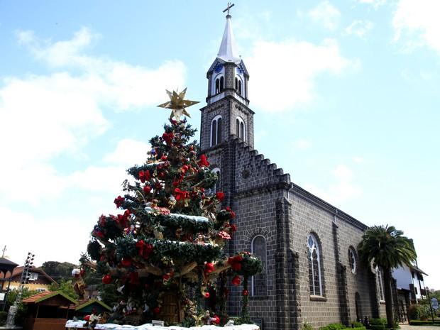 Igreja Matriz São Pedro, em Gramado (RS) (Foto: Cleiton Thiele/Divulgação)