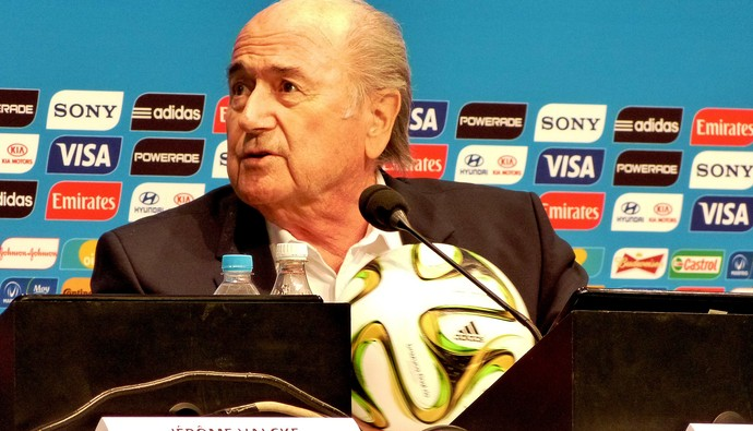 Joseph blatter FIFA Coletiva (Foto: Vicente Seda)