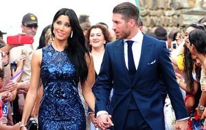 Sergio Ramos e a namorada Pilar Rubio (Foto: Splash News)