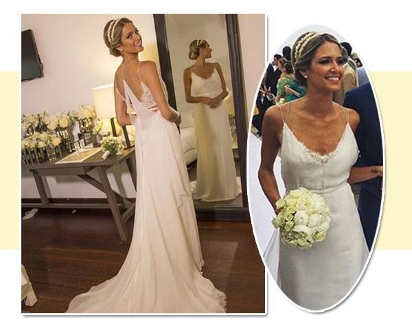 Helena Bordon usou um vestido de Franciso Costa  (Foto: Reprodução/Instagram)