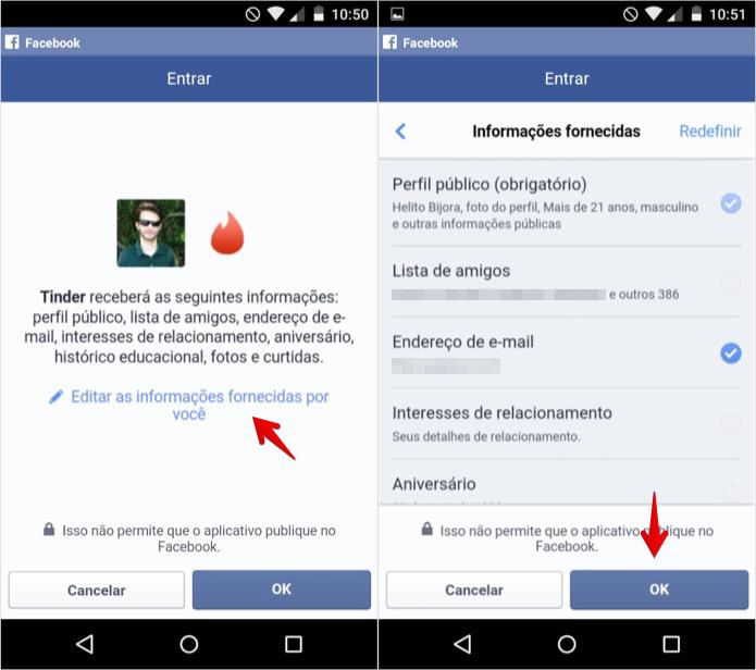 Personalizando dados fornecidos ao aplicativo (Foto: Reprodução/Helito Bijora)