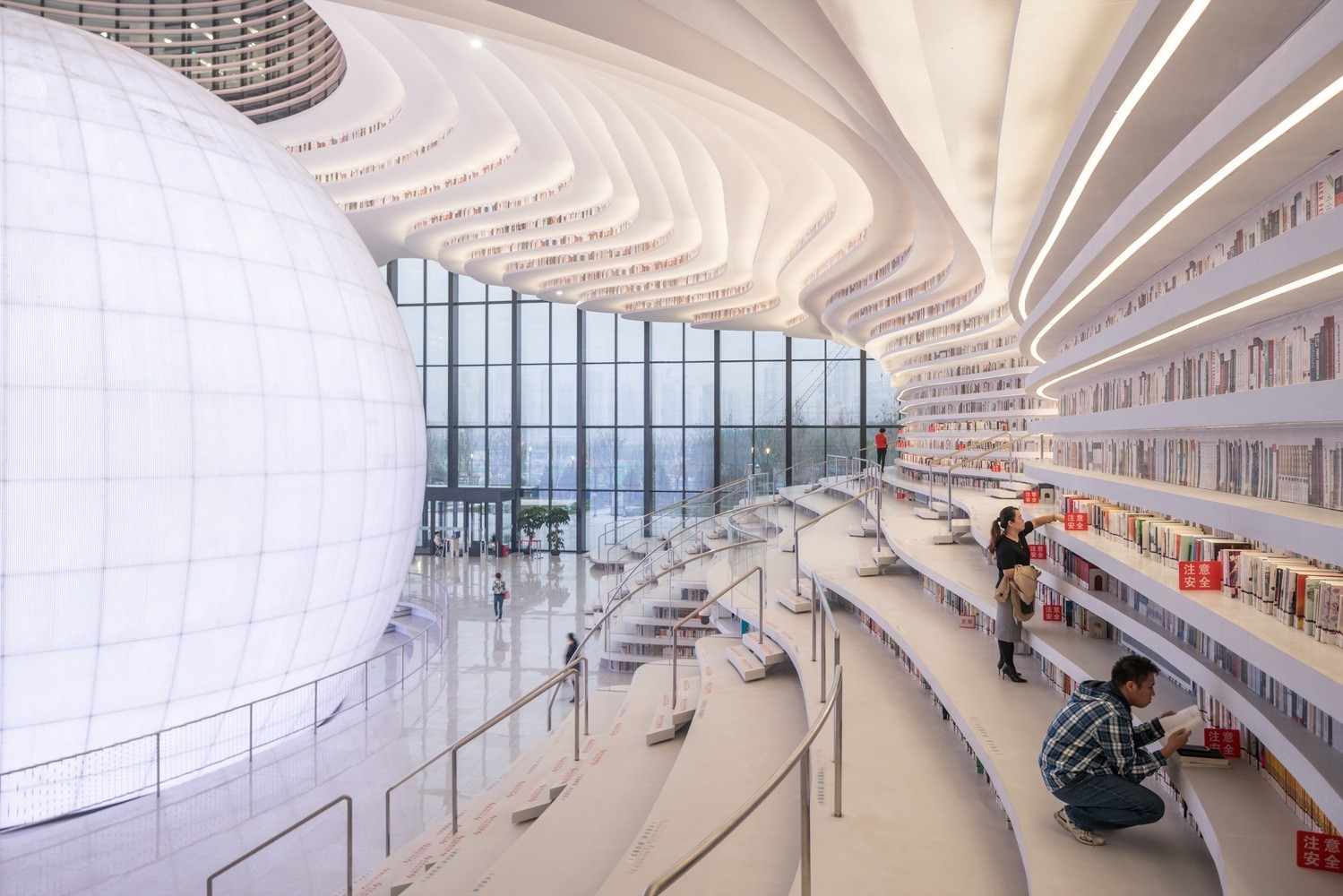 Biblioteca de Tianjin (Foto: Ossip van Duivenbode/ MVRDV)