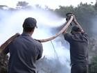 Incêndio atinge ponto de apoio do residencial Atlântica em Rio Preto