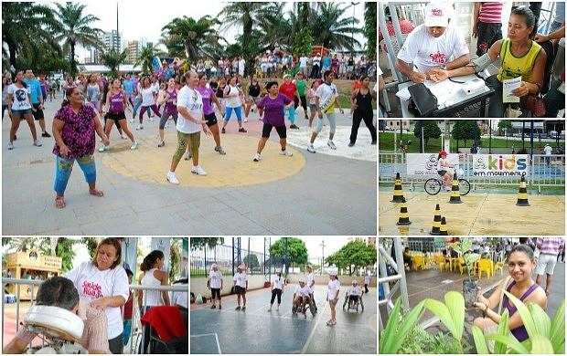 'Saúde de Rua' oferece serviços de saúde, esporte e cidadania (Foto: Divulgação/ Rede Amazônica)