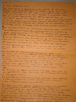 Filha carta PM morto gravataí (Foto: Josmar Leite/RBS TV)