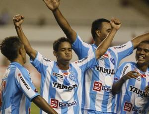 Jogadores do Paysandu sonham com a conquista da Copa do Brasil 2012 (Foto: Marcelo Seabra/Jornal O Liberal)