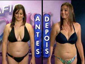 Veja o antes e depois de Claudia no Desafio Mais Você (Foto: Mais Você / TV Globo)