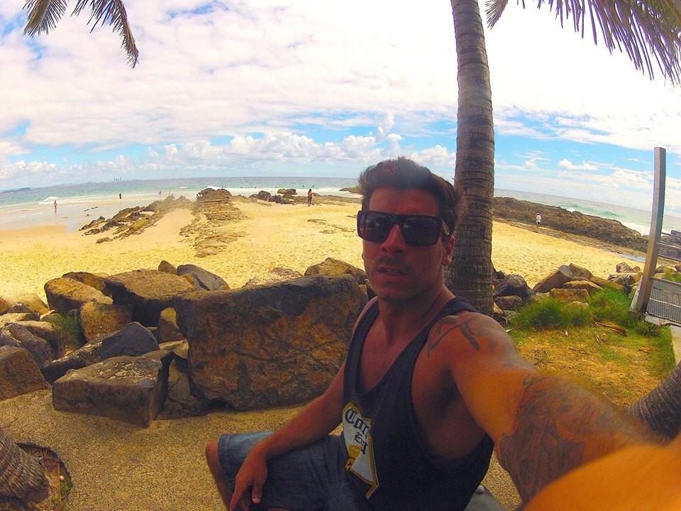 Vitor Gozzer na Austrália (Foto: Arquivo Pessoal)
