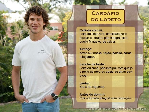 Cardápio José Loreto (Foto: Flor do Caribe / TV Globo)
